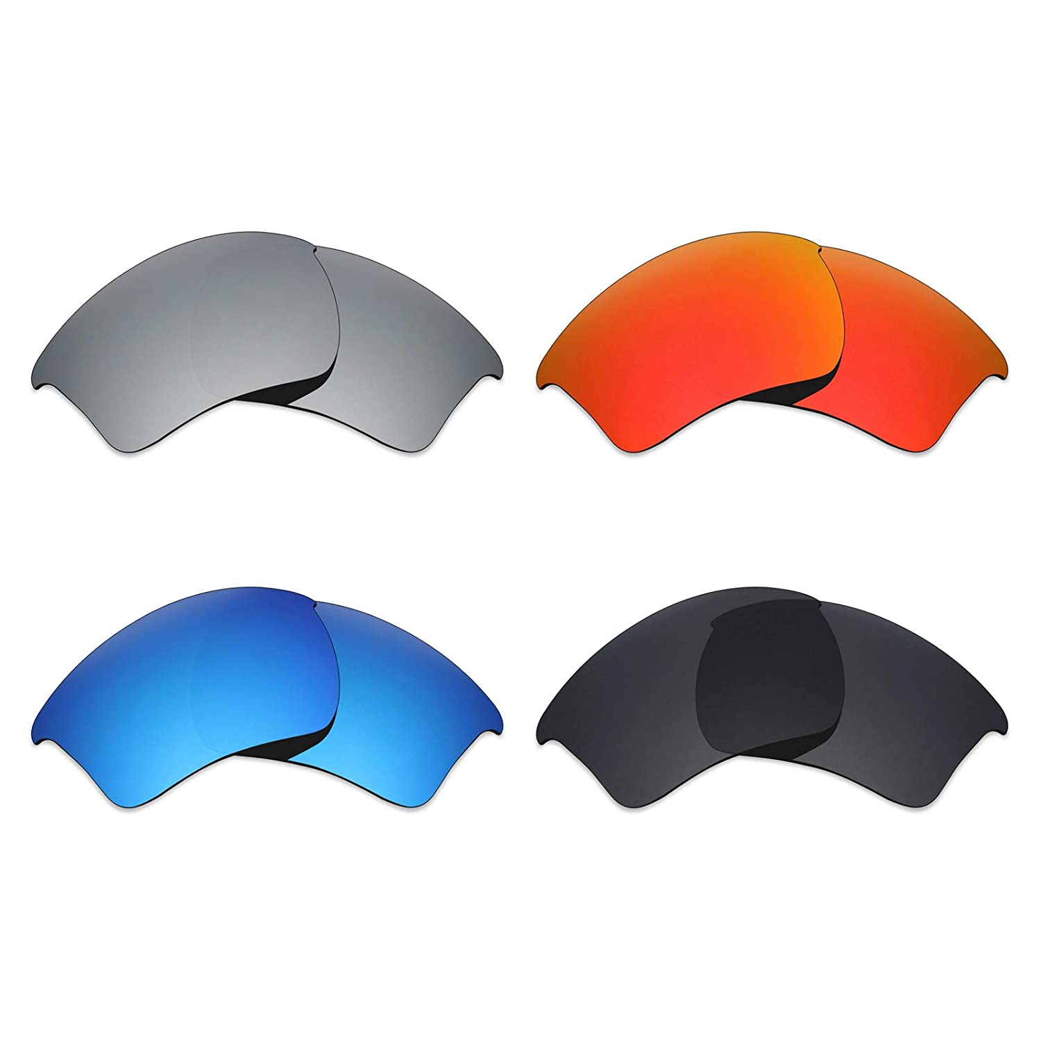 3eae71905bcb7 Mryok 4 Pair Polarized Replacement Lenses for Oakley Half Jacket 2.0 XL  Sunglass - Stealth ...