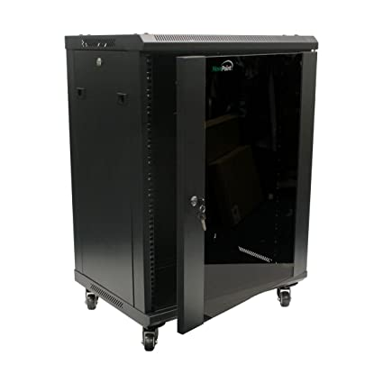 Superieur NavePoint 15U Wall Mount Network Server Cabinet Rack Enclosure Glass Door  Lock W/Casters