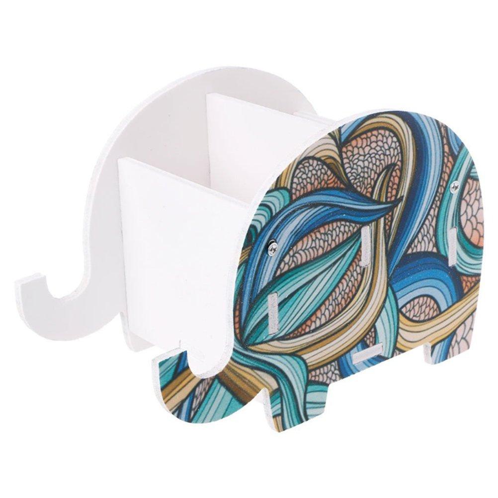 TOYMYTOY Elefanti portapenne ufficio da scrivania Organizzatore di cancelleria Porta Oggetti da Scrivania (Elefante indiano)