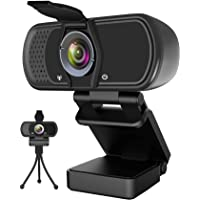 Webcam with Microphone,Hrayzan 1080P HD Webcam with Privacy Cover and Tripod,Streaming Computer Web Camera with 110…