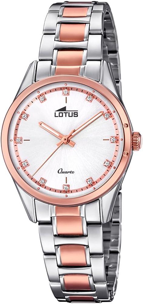 Lotus Reloj Mujer de Cuarzo analógico con Correa en Acero Inoxidable 18386/2