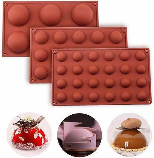 6 Cups Hemisphere Shape Silicone Cake Mold Fondant Chocolate Mould Cake Tools