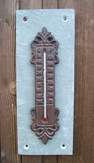 Nostalgie Landhausstil Thermometer Gusseisen Garten