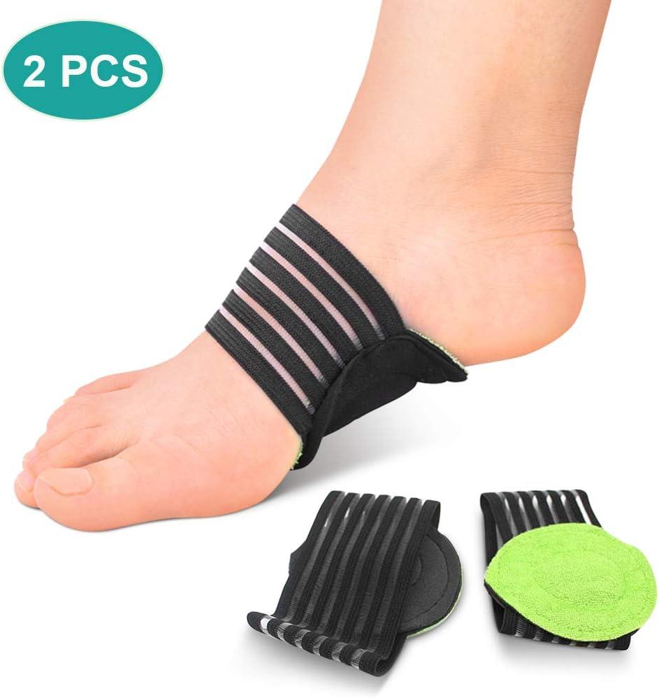 plantillas acolchadas para fascitis plantar. Calcetines soporte para talón y tobillo, plantillas para pies planos, almohadillas para soporte del arco, plantillas ortopédicas para fascitis