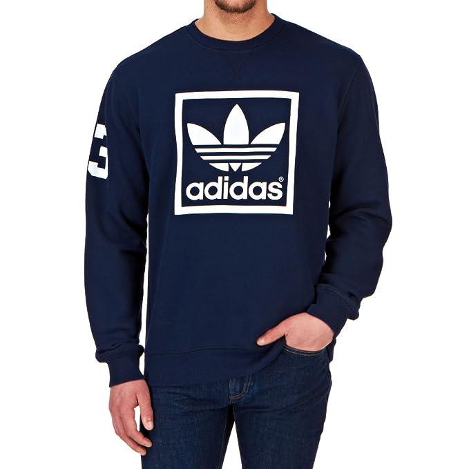 3 Adidas Langärmliges Sweatshirt Stripes Trefoil Sudadera De Para Fitness Crew Hombre CQdrhsxt