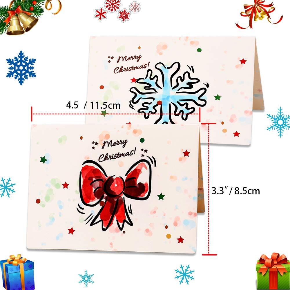 Howaf 36 Piezas Tarjetas de Navidad, Tarjetas de Felicitaciones de Navidad con 36 Sobres y 36 Pegatinas para Invitación Eventos y Navidad Celebración ...