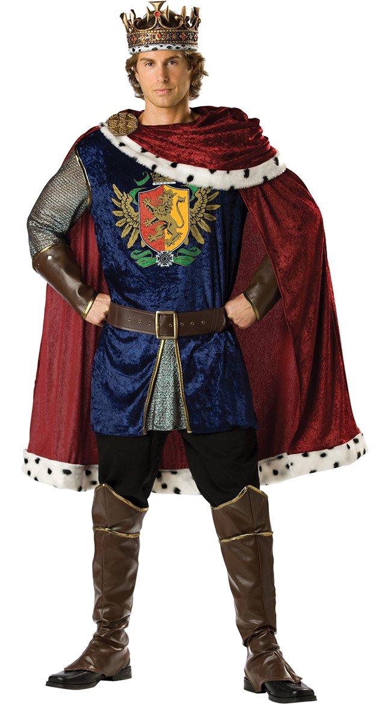 InCharacter Costumes Men's Noble King Costume, Burgundy/Blue, Large