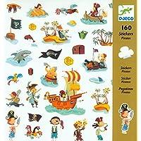 DJECO Pirate Stickers (160 pc)