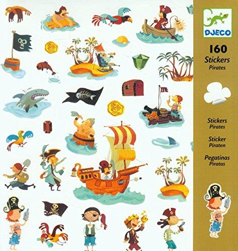 DJECO Pirate Stickers (160 pc) ()