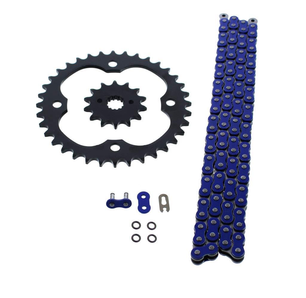 520-96L Blue O Ring Chain /& Sprocket Black 14//36 Suzuki LTR450 2006-2010