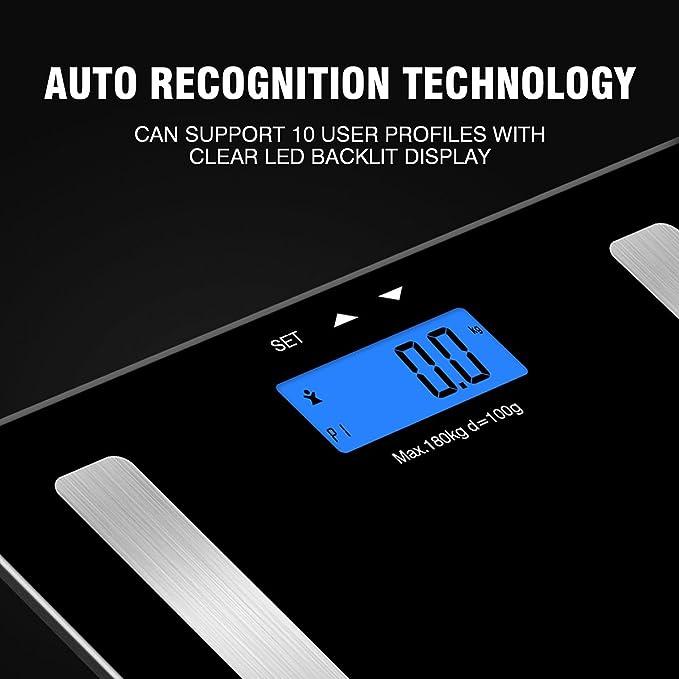 Hangsun Báscula de baño analizadora digital HS1 Báscula de análisis corporal electrónica por segmentos: Amazon.es: Salud y cuidado personal