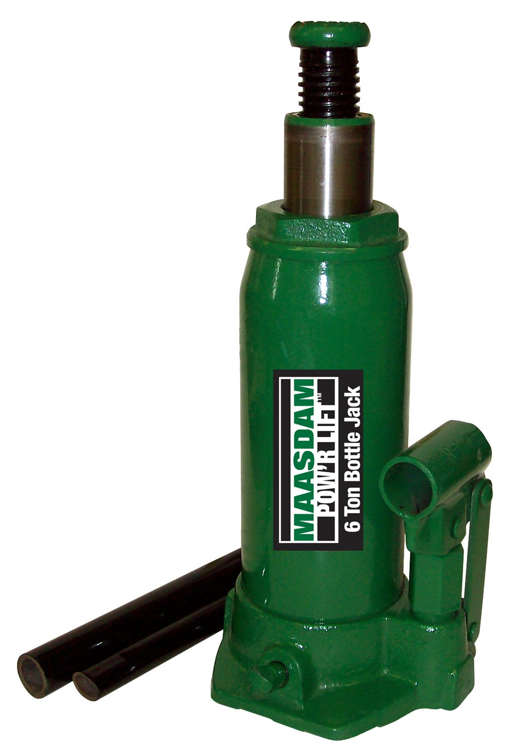 Maasdam MPL6B Bottle Jack, 6 Ton, Green