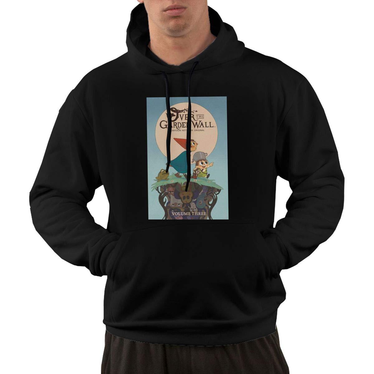 Eowlte Over The Garden Wall Men Long Sleeve Casual Hooded Pocket Sweatshirt Black S