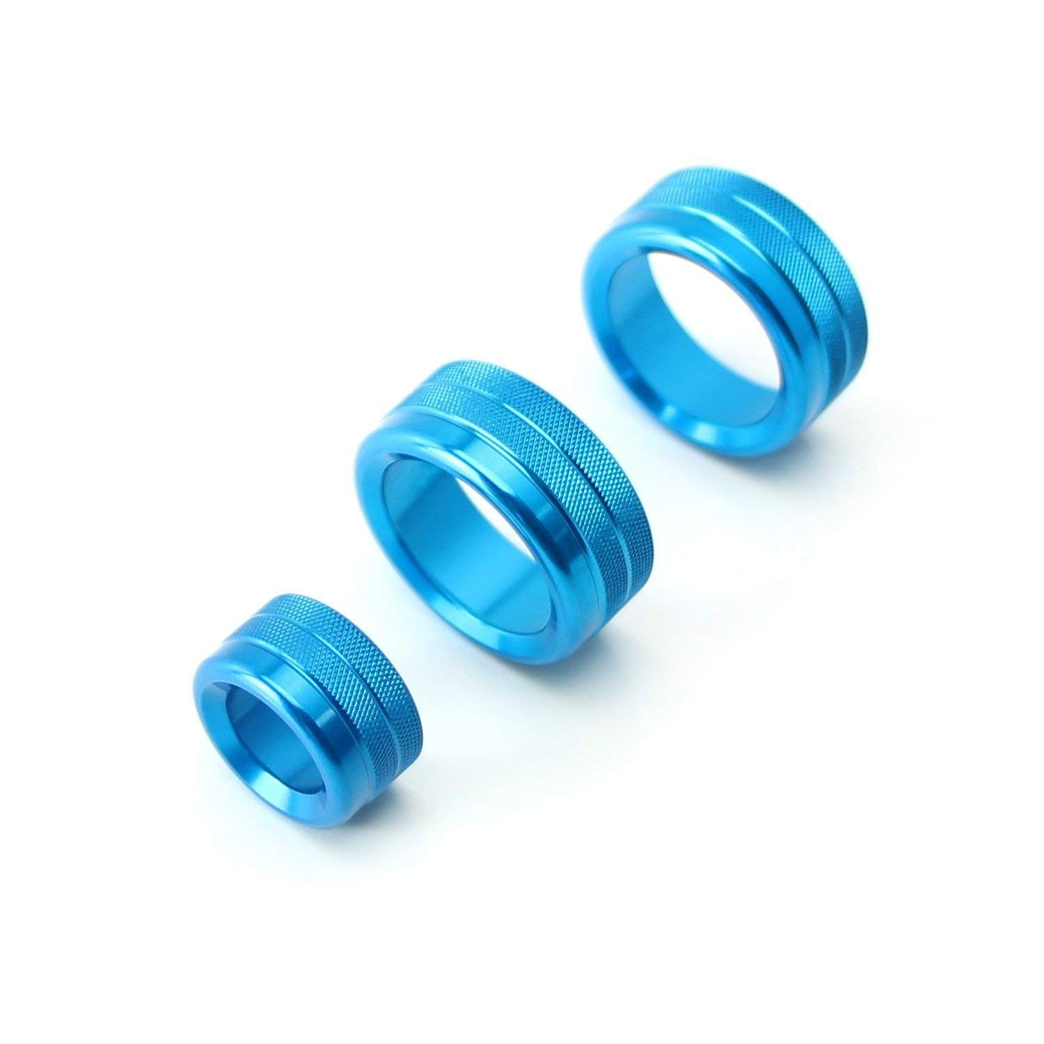 F25 F26 F15 F16 iJDMTOY 3pcs Blue Anodized Aluminum AC Climate Control and Radio Volume Knob Ring Covers For 2014//2015-up BMW X3 X4 X5 X6