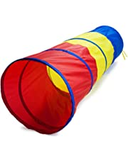 K-Roo Sports 6 Foot Multi-Color Children-Feets Exploration Pop-Up Tunnel