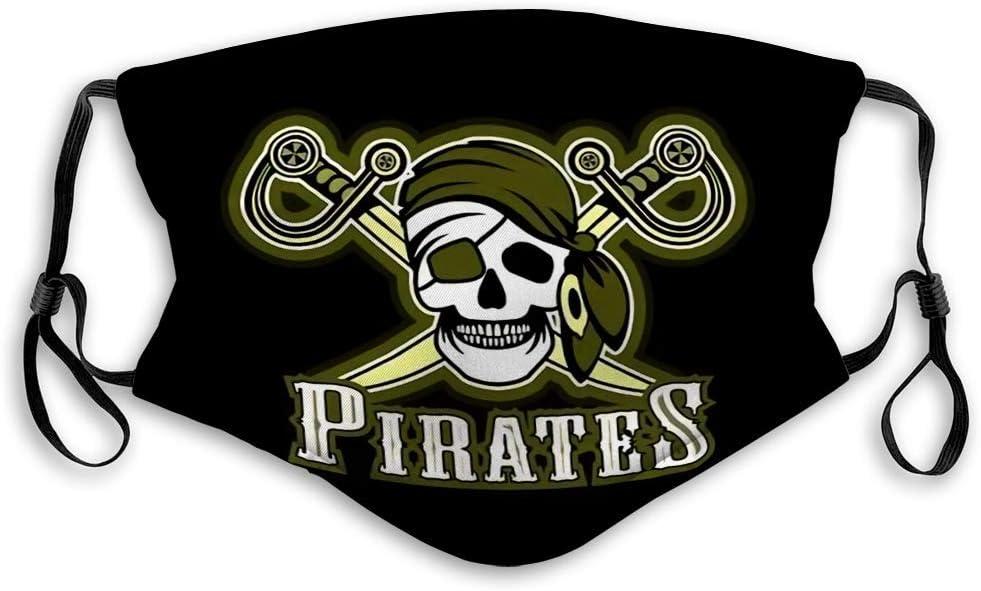 Protección del medio ambiente cómoda protege la boca unsex M preguntar cara C sobre pirata animadora en rojo bandana símbolo de calavera y espadas cruzadas