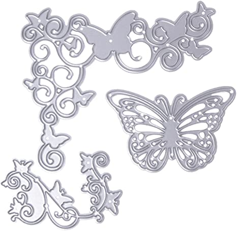 3Pcs Leaves Dies Metal Cutting Stencil For Scrapbooking Paper Cards Gift Decor