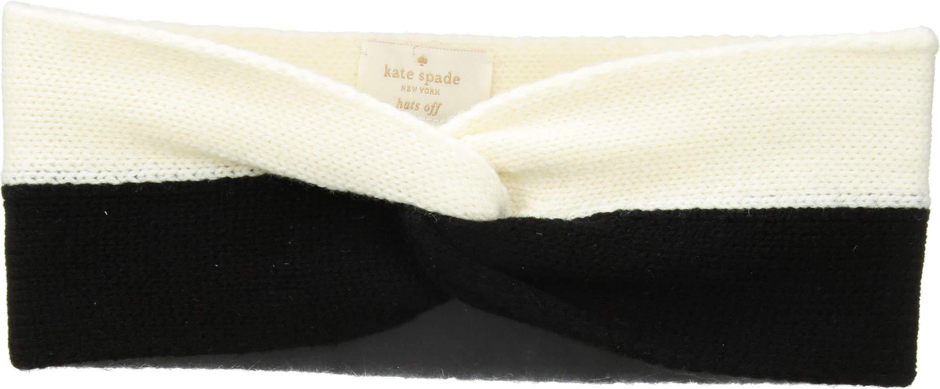 Kate Spade New York Women's Striped Headband, Black/Cream, One Size