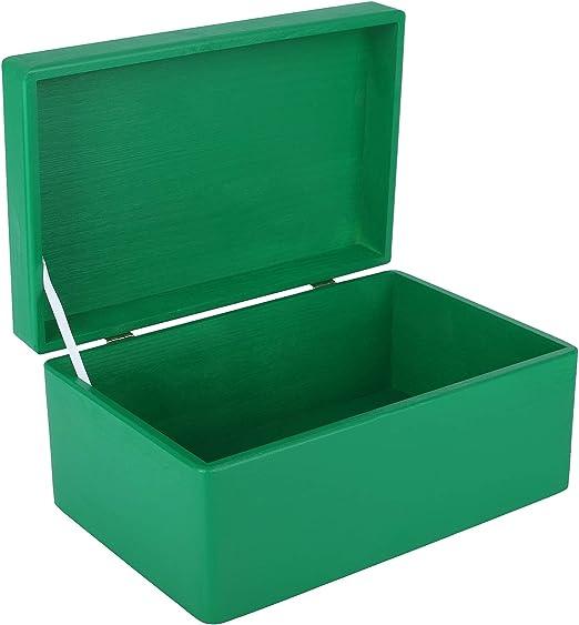 Creative Deco Verde Grande Caja de Madera para Juguetes | 30 x 20 ...