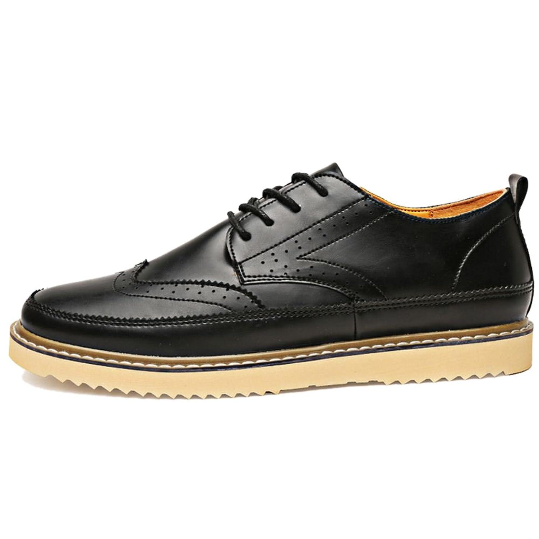 RAZAMAZA Herren Classic Brogue Wing tip Lace Schuhe (39 EU, Light Brown)