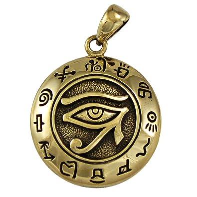 Amazon bronze egyptian udjat eye of horus ra pendant bronze egyptian udjat eye of horus ra pendant egyptian kemetic jewelry aloadofball Choice Image