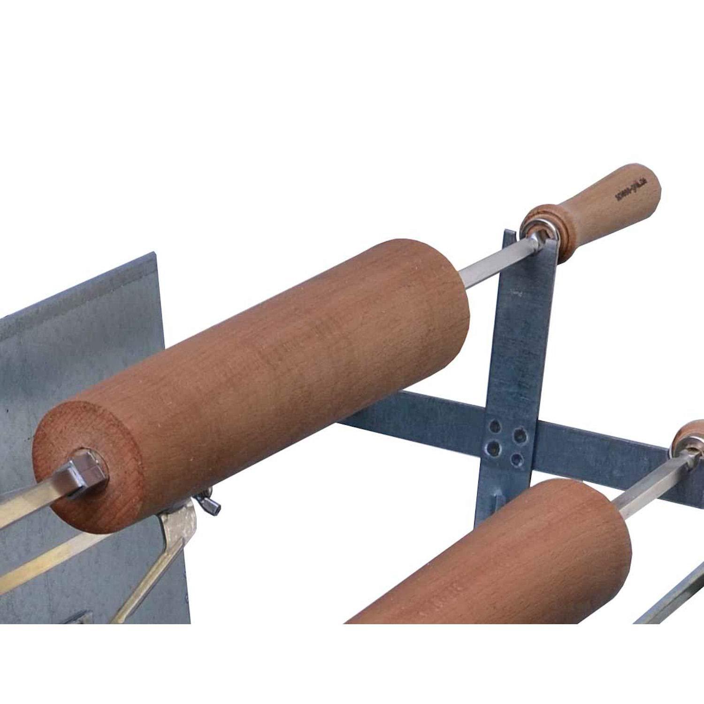 Baumstriezel Buchenholzrolle für Holzkohle Spießgrill 50 cm