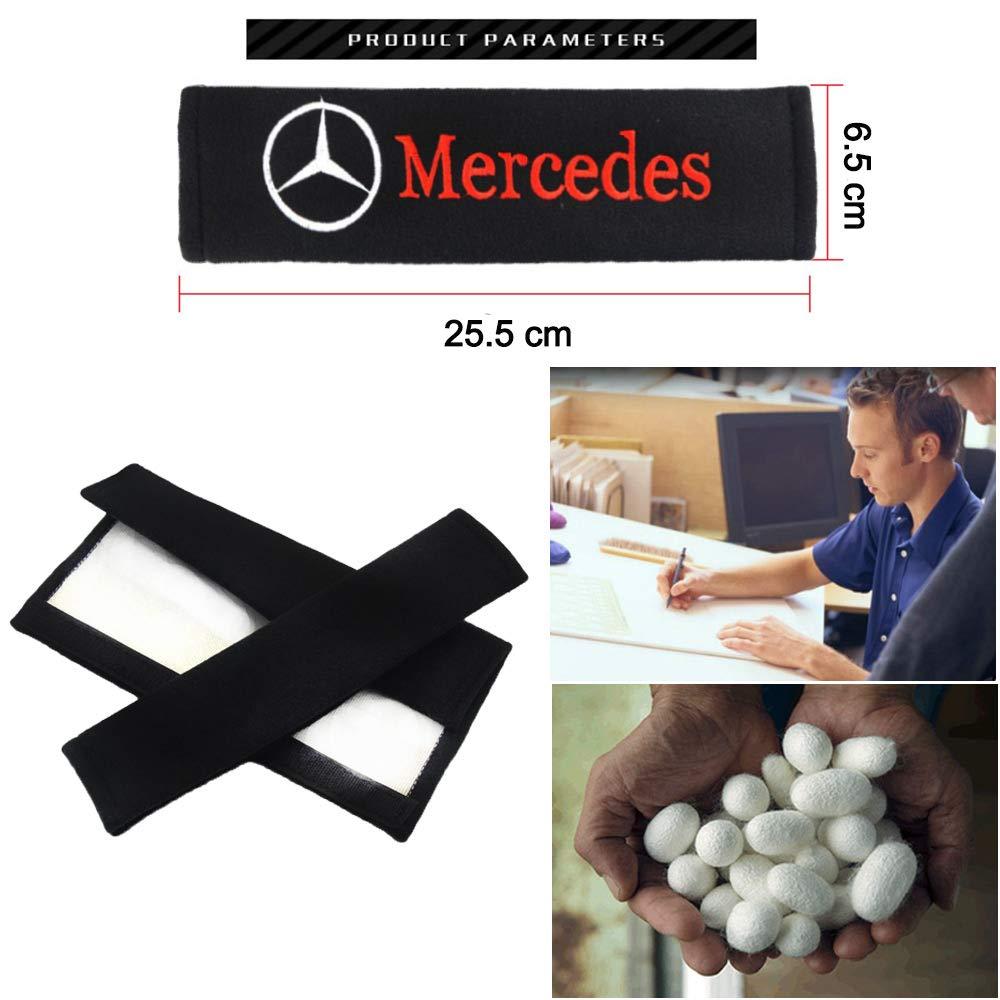 VILLSION 2Pack Auto Imbottiture Cinture di Sicurezza Morbido cotone protegge il collo e la spalla