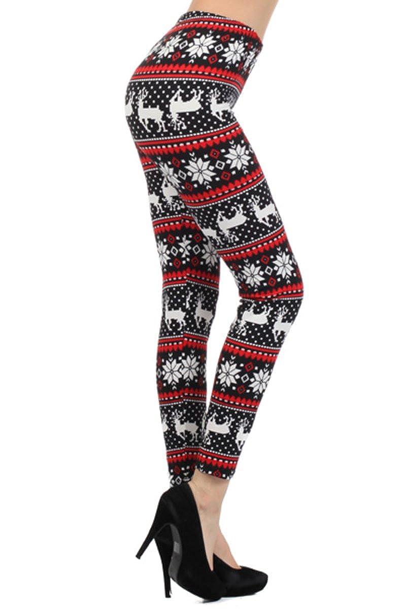 1fd1b8c33262d Top4: Leggings Depot REG/PLUS/3X5X Women\'s Best Christmas Holiday Printed  Leggings