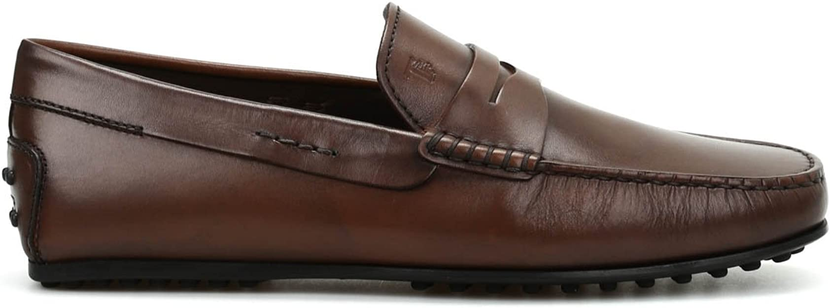 Details about  /Tod/'s Men/'s MOCASSINO Gommino Leather Moccasins Loafers Shoes BROWN