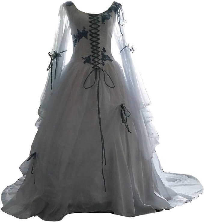 Vintage Medieval Gothic Wedding Dress