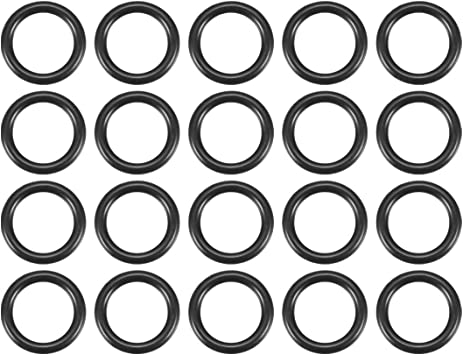 uxcell/® 86mm x 90mm x 2mm Black Rubber Sealing Oil Filter O Rings Gaskets