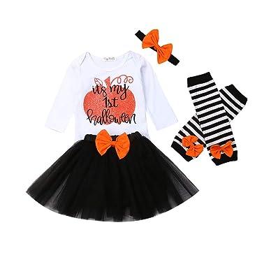 jsadfojas My 1st Halloween Disfraz Falda Outfit recién Nacido bebé ...
