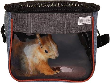 Portable Breathable Small Pet Outgoing Bag for Hedgehog Suagr Glider Squirrel Chinchilla Guinea Pig S 18x13cm,Blue SANSHIYI Hamster Carrier Bag