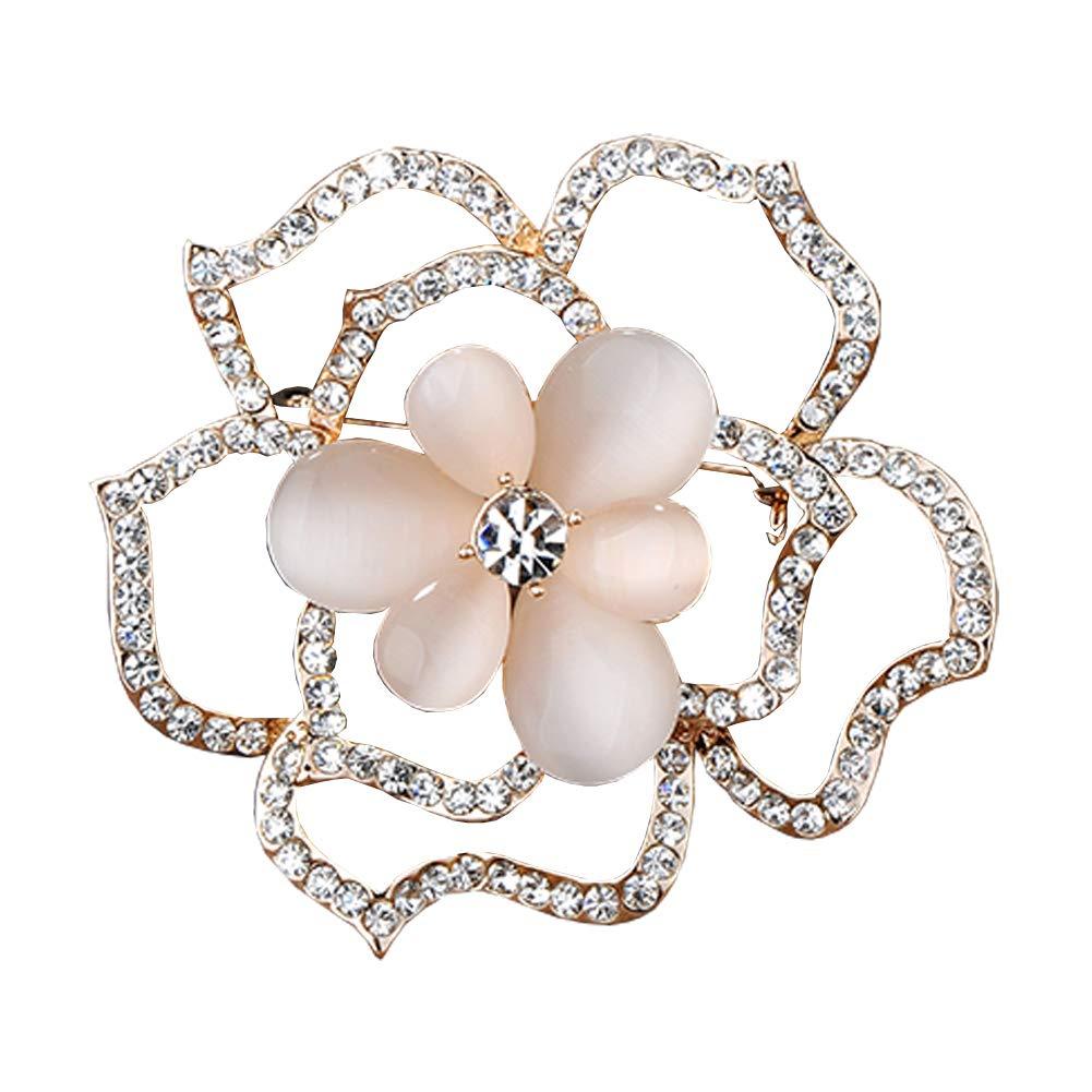 Shining Brooch Pin for Women Brides Elegant Pin Brooches #E