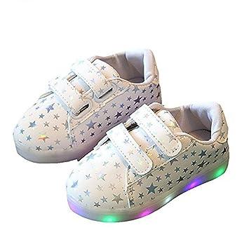 reputable site 8d1b0 d612f LED-Schuhe Kinderschuhe, Stillshine - Mädchen / Jungen, Kinder Baby Running  School Schuhe Bunte fluoreszierende Schuhe Flash rutschfeste schöne Leder  ...
