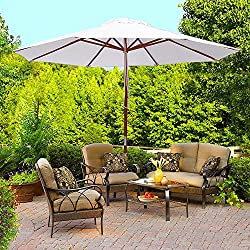 Outdoor Patio White Umbrella