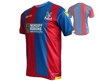 Macron Crystal Palace FC Home Jersey Jugador cpfc Camiseta de fútbol Rojo/Azul: Amazon.es: Deportes y aire libre