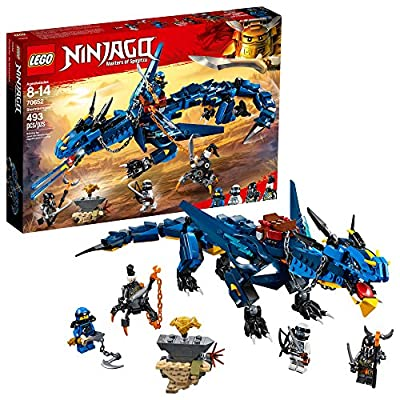 LEGO NINJAGO Masters of Spinjitzu: Stormbringer 70652 Ninja Toy Building Kit with Blue Dragon Model for Kids, Best Playset Gift for Boys (493 Pieces): Toys & Games