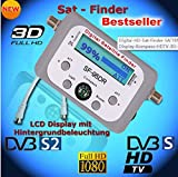 SaferCCTV(TM) SF-95DR LCD HD Digital Satellite Signal Meter Finder DISHNetwork DirecTV FTA Compass Automatically Recognizes the LNBF Frequency and Works with Any C Band, Ku Band, or Ka Band Satellite