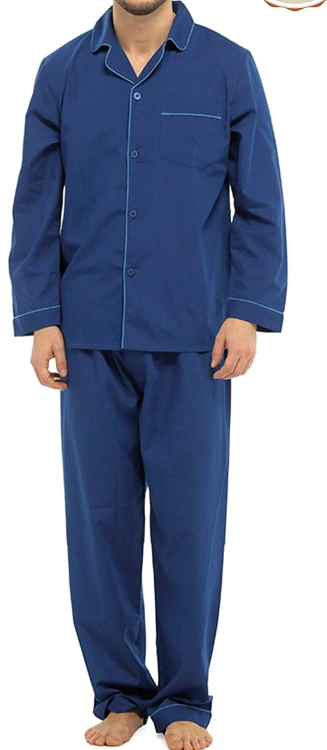 Sleepy Joe Gents Traditional Poly Cotton 1949 Long Pyjamas