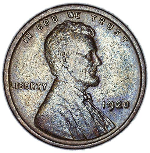 1920 P Lincoln Wheat Nice Toning Cent Very Fine