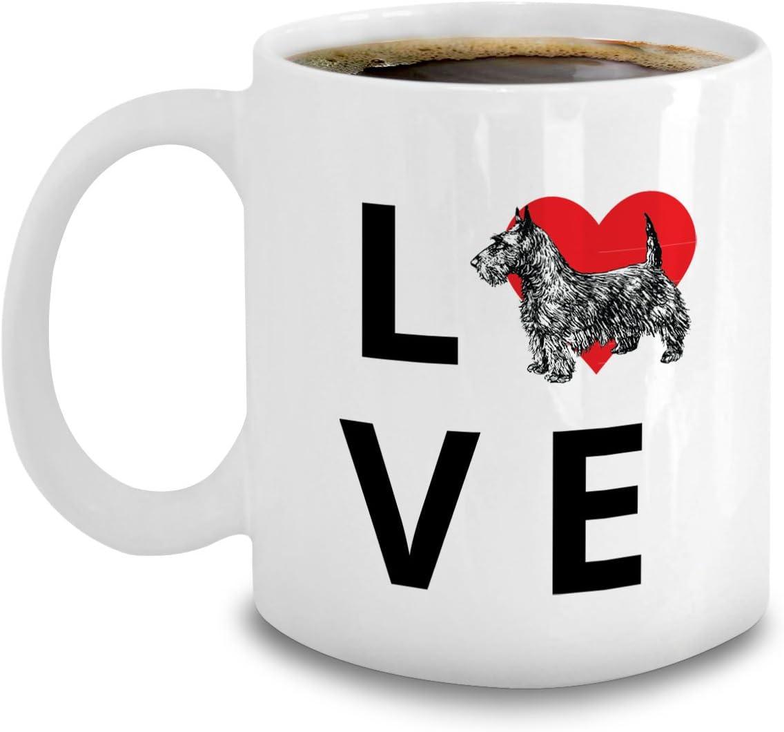 Amazon Com Scottish Terrier Coffee Mug Dog Lovers Gift Love Heart Scottie Accessories Cup Kitchen Dining