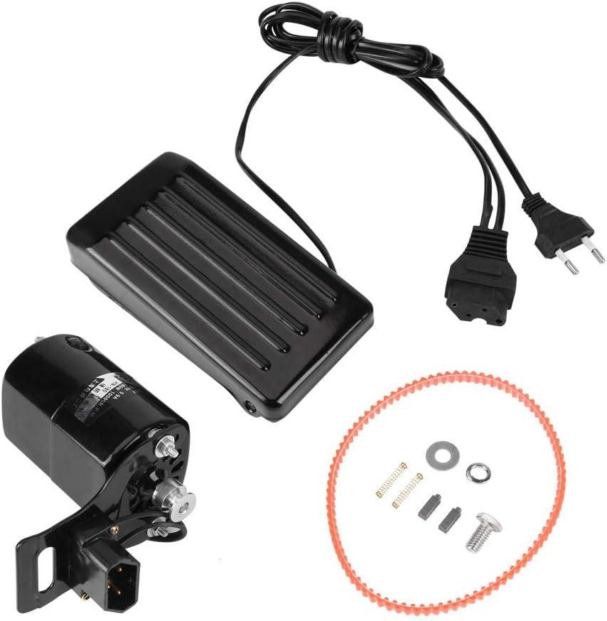 Asixx Motor doméstico, 220V 0.9A 180W Motor doméstico doméstico para máquina de Coser Vieja con Pedal de Control de Pedal Trabajo Manual