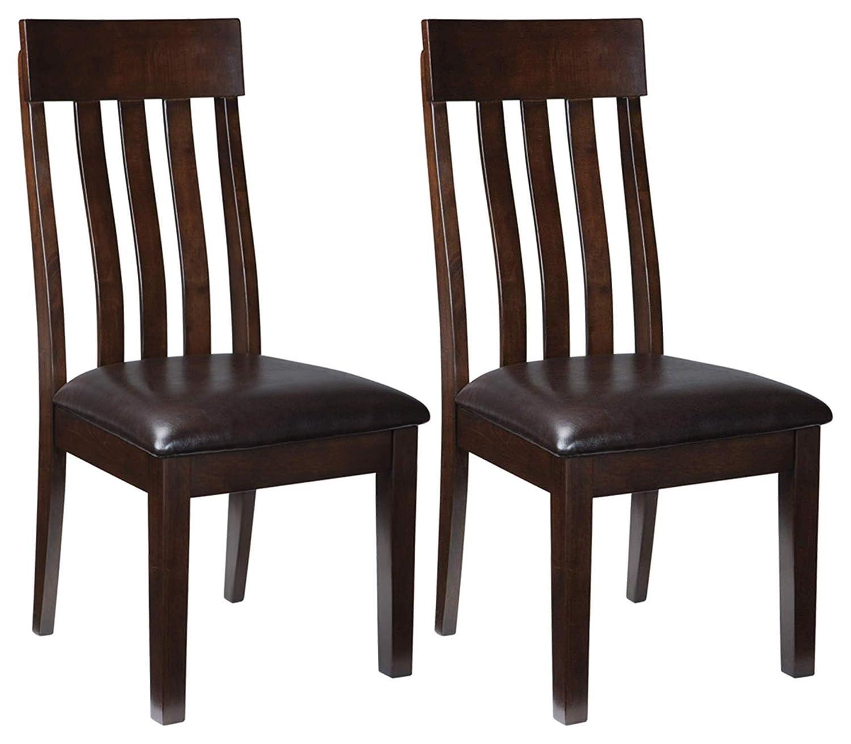 Amazon.com: Ashley Furniture Signature Design   Haddigan Dining Room Chair    Upholstered Chairs   Set Of 2   Dark Brown: Kitchen U0026 Dining