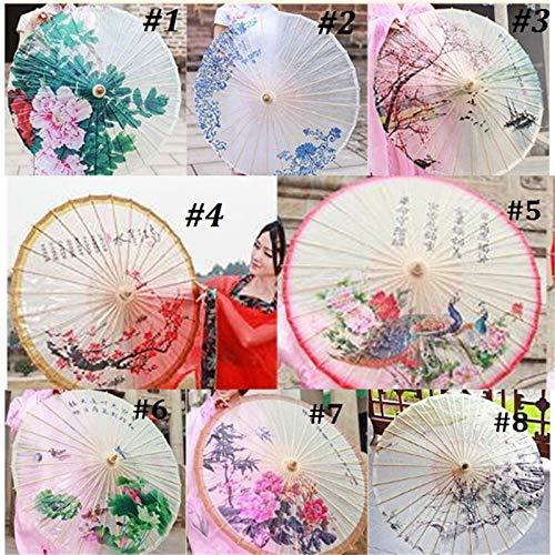 - TOYECOTA - Classical Chinese Style Handmade Oiled Paper Umbrella Bamboo Rain Umbrella Women Vintage Dance Umbrellas Stage Performance New