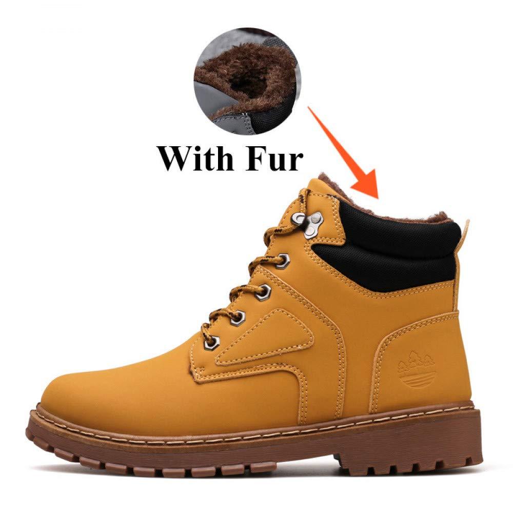 FHCGMX Winter mit warmen Schnee Stiefel für männer Turnschuhe männliche männliche männliche Schuhe Erwachsene Gummi Rutschfeste beiläufige Arbeit Sicherheit Stiefeletten 2fe9e0