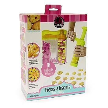 lily cook kp5104 coffret cadeau presse à biscuits plastique ... - Box Cadeau Cuisine