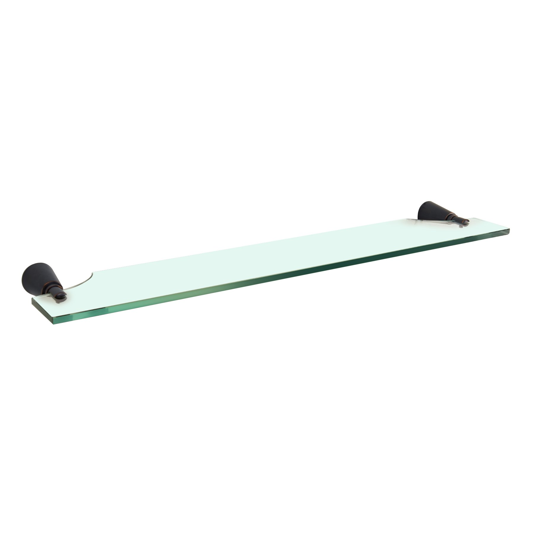 MAYKKE Soma 24'' Tempered Glass Wall Shelf | Modern Accessories and Toiletries Organizer for Bathroom Lavatory, Shower, or Kitchen, Floating Wall Mounted Storage | Oil-Rubbed Bronze DLA1100103