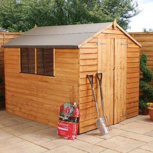 Nova 6 x 8 puerta doble, machimbre cobertizo - barato cobertizos - Cobertizos: Amazon.es: Jardín