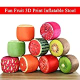CONNECTWIDE Funny Fruit Design Inflatable Stool Bearing 220 lb Bean Bag Chair for Adults, Teens and Kids, Perfect for Indoor and Outdoor Use Inflatable Seats+free inflator (1 pc )